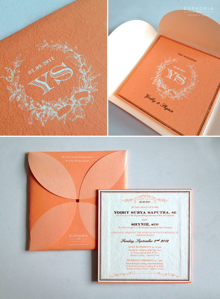 Elegant peach gold wedding stationery euphoria elegant peach wedding invitation 01 by euphoria design decor stopboris Images