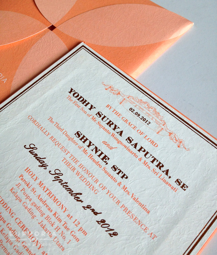 Elegant peach gold wedding stationery euphoria elegant peach wedding invitation 02 by euphoria design decor stopboris Images