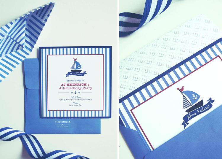 Ahoy jjs sailor birthday party euphoria sailor birthday invitation by euphoria design decor01 stopboris Gallery
