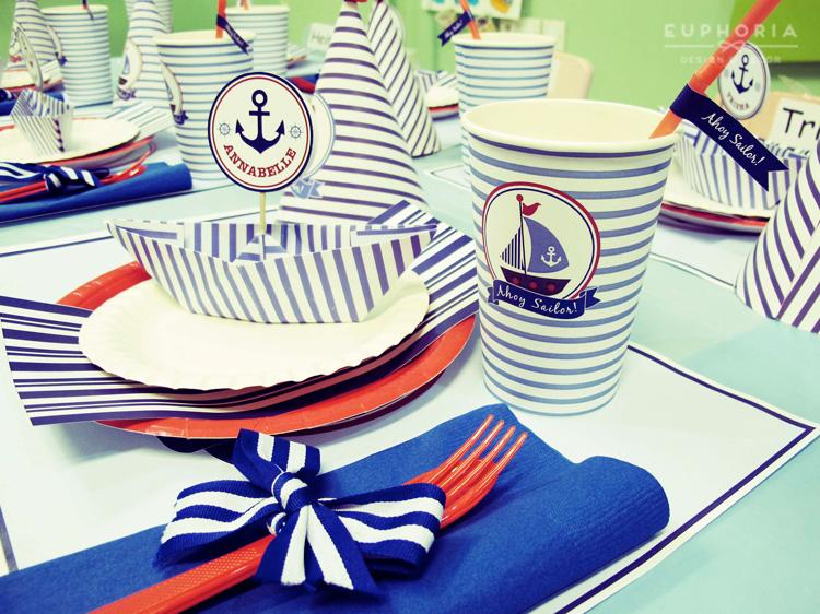 ahoy jj s sailor birthday party euphoria design amp decor